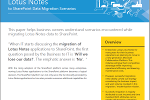 Lotus Notes to SharePoint Migration White Paper